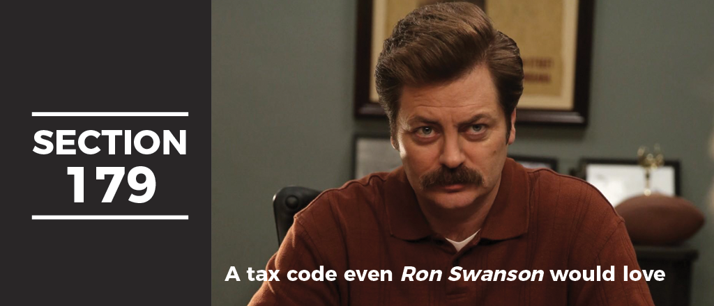 Section 179 — Part of the IRS Tax Code You'll Actually Love